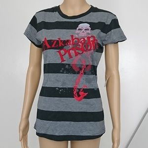 NWT Harry Potter Azkaban Prison Striped Tee Size M